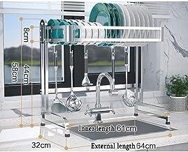Kitchen Shelf, Stainless Steel Sink Dish Rack, Storage Rack Crockery, Home Multifunctional Storage for Kitchen
