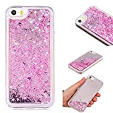 Coque iPhone 5, Coque iPhone 5/5S/SE Liquide, Caselover Bling Bling Dynamic...