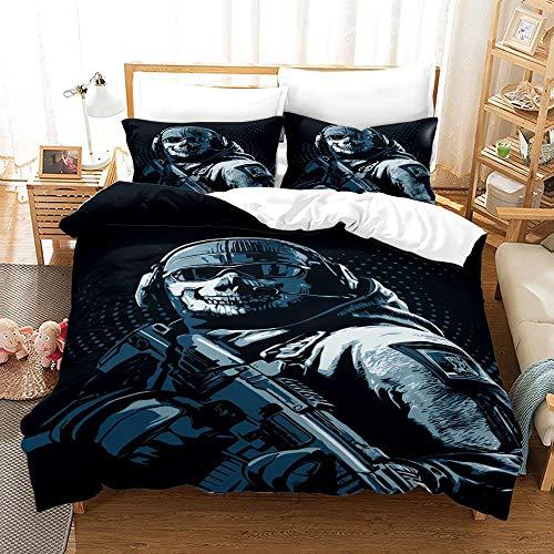 Bettwäsche Ruf Der Pflicht 135X200 cm Bettwäsche Set 3Tlg Mit Reißverschluss Bettbezug Weiches Antiallergisches Mit 2 Kissenbezüge 50X70 cm