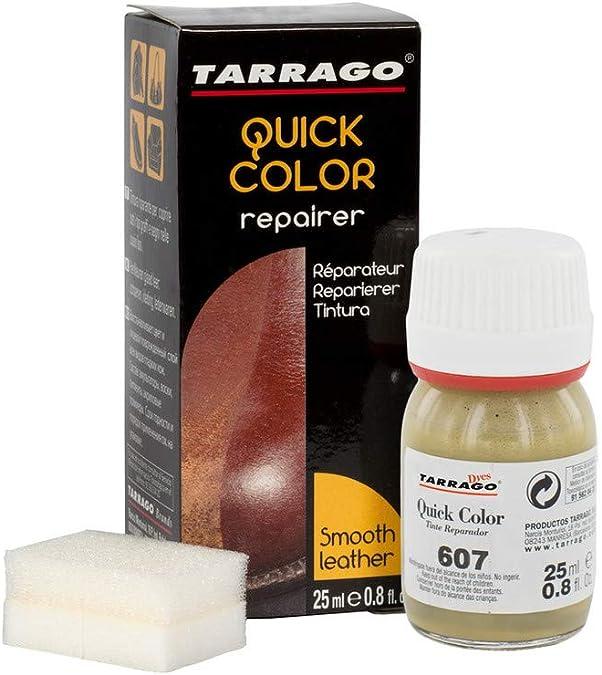 Tarrago   Quick Color 25 ml   Tinte Para Zapatos y Accesorios de Piel, Cuero Liso y Lona   Tintura de Secado Rápido Que Repara y Protege el Calzado de ...