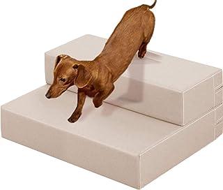ottostyle.jp ドッグステップ Lサイズ 90cm×50cm×15cm ベージュ 愛犬のソファやベッドの昇り降りに!汚れても拭き取れるPVC素材