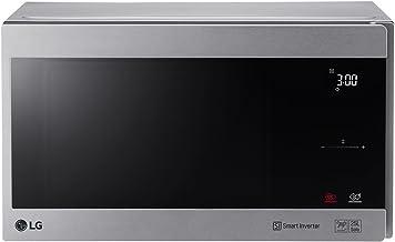 LG MS2595CIS - Microondas (Encimera, Solo microondas, 25 L, 1000 W, Tocar, Plata, Acero inoxidable)