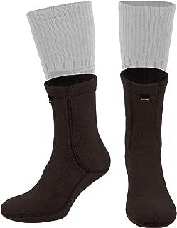 Military Warm 6 inch Boot Liner Socks - Outdoor Tactical Hiking Sport - Polartec Fleece Winter Socks (Brown Bear)