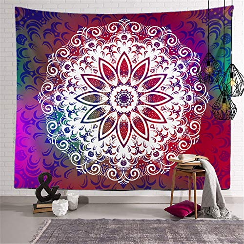 DHHY Polyester 3D Printing Tapestry, Mandala Hand-Painted Series Digital Printing Tapestry, Household Decorative Tapestry Beach Towel
