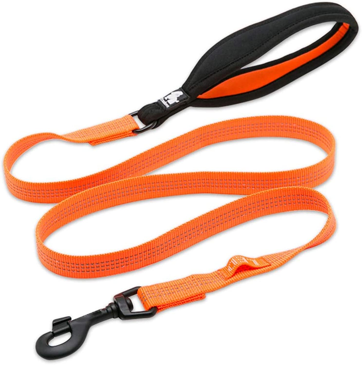 Dog Leash, Nylon Weave Pet Dog Lead for Large Medium Small Dogs Slip Lead Traction Rope Leash (color   orange, Size   M)