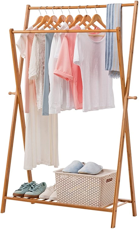 Peaceip Solid Wood Coat Rack Simple Floor Style Coat racks Solid Wood Hangers Bedroom Living Room Storage Rack