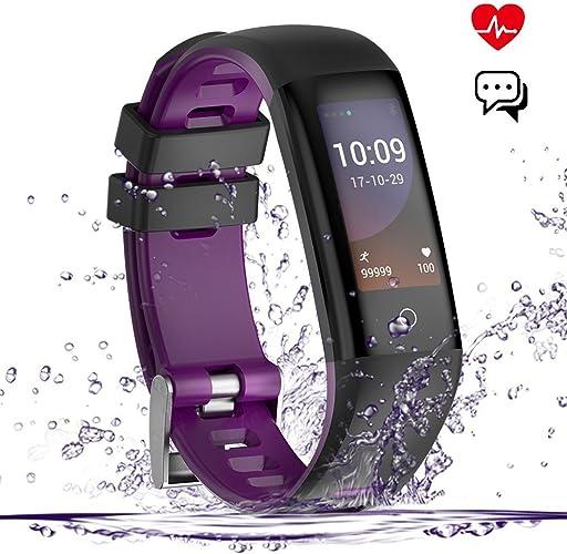Montre Intelligente, écran Couleur imperméable à l'eau Bracelet Intelligent Bracelet bleutooth podomètre Montre Le Suivi de l'activité de santé et Moniteur de Sommeil fréquence voiturediaque Pression