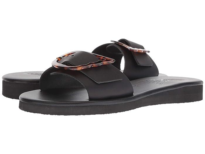 Ancient Greek Sandals  Aglaia (Black/Tortoiseshell) Womens Shoes