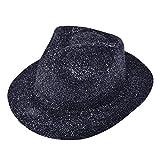 Bristol Novelty Bh086Paillettes Plastique Chapeau, Noir, taille unique