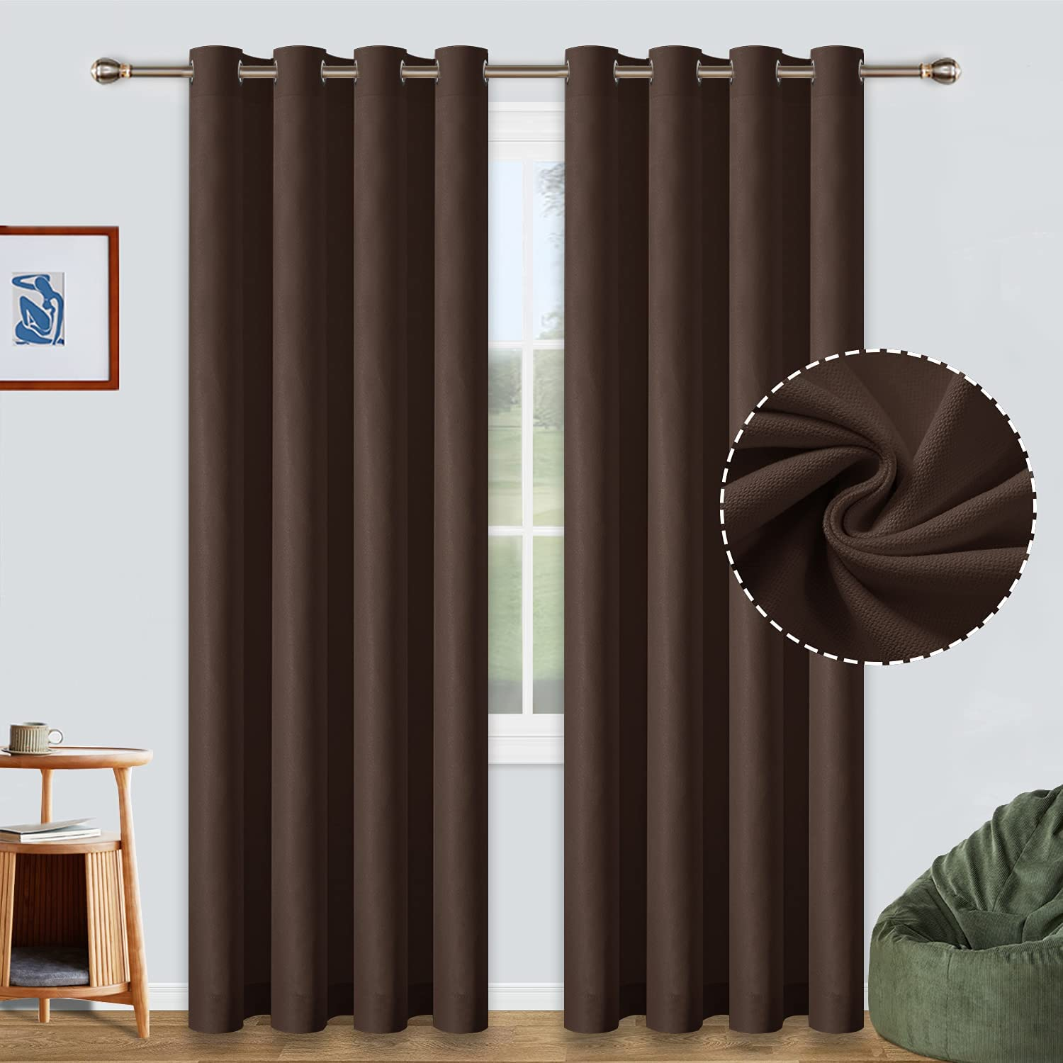 Ranking TOP17 ALLJOY Bedroom Blackout Curtains 84 Blocking Inch Light Surprise price Length