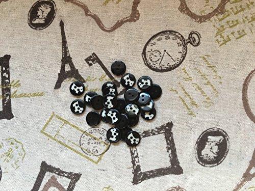 10 Scottie Chien Noir et blanc 2 trous Boutons 12 mm Chemisier Arts & Crafts