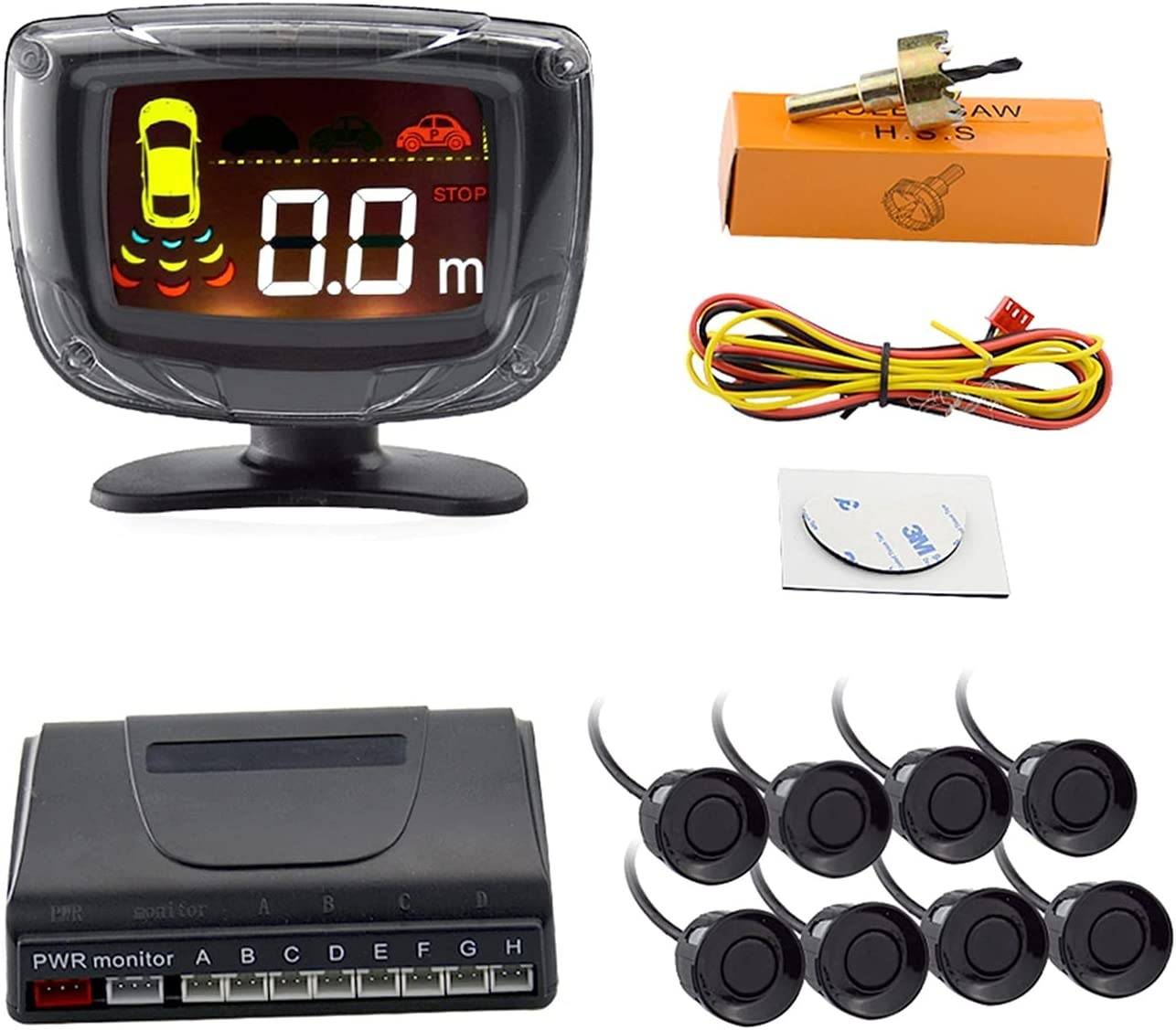 Car Parking Detroit Mall Sensor 4 8 Radar Monito Ranking TOP1 Backup Reverse Detector Rear