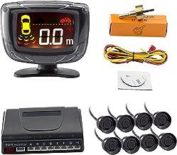 Car Parking Sensor 4/8 Radar Detector Reverse Backup Rear Monitor System LED Display Parking Assistance for Adults (Color ... photo
