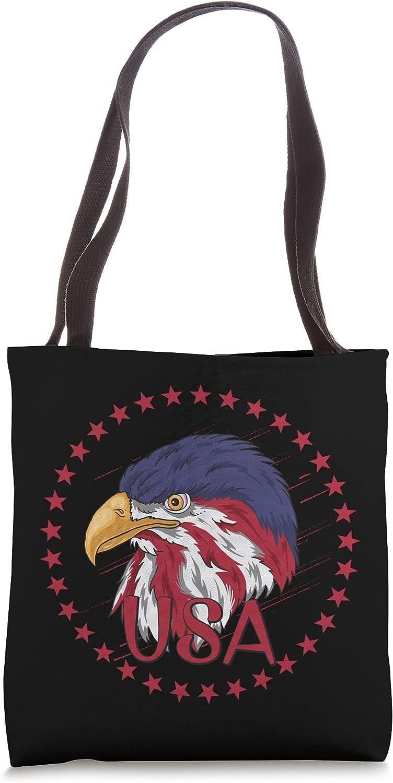 American Flag 4th Of July Tee Patriotic Bag Pride Tote Choice Eagle Fashionable