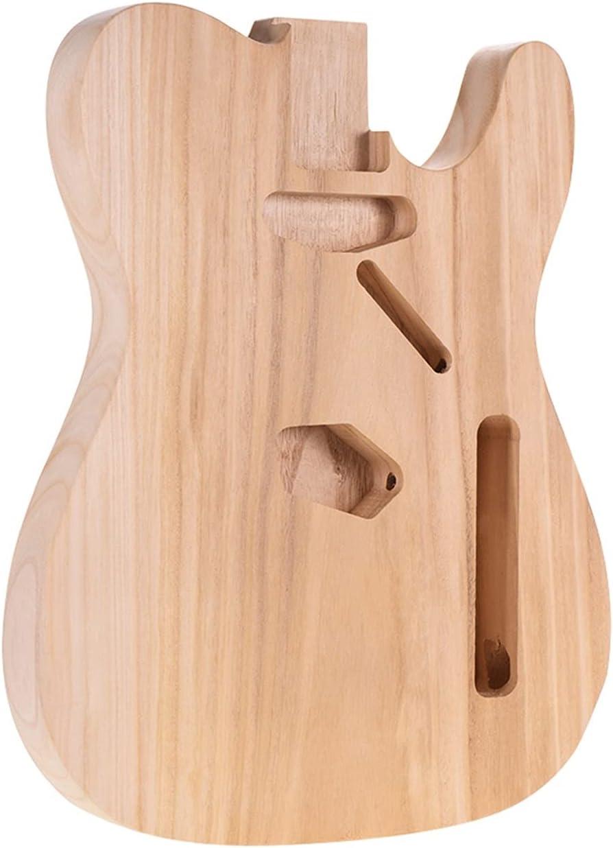 Cuerpo Guitarra DIY Sycamore Wood Blank Guitar Barrel Cuerpo De Guitarra De Calidad Sin Terminar para Accesorios De Guitarras Eléctricas De Estilo Tele Kits Guitarra Bricolaje