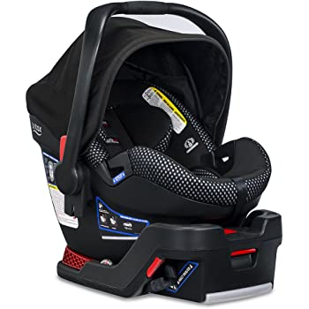 Britax B-Safe Ultra Infant Car Seat - Rear Facing | 4 to 35 Pounds - Reclinable Base, 2 Layer Impact Protection | Cool Flow Ventilated Fabric, Cool Flow Grey (E1C009S)