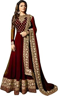 Range Of India Women's Anarkali Salwar Kameez Designer Indian Dress Party Embroidered Gown