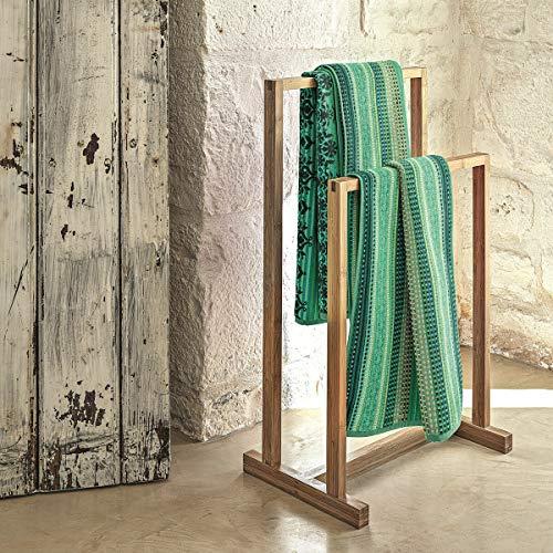 Bassetti Toalla de Ducha MOCENIGO G1, 70 x 140 cm, Color Gris, 70 x 140 cm