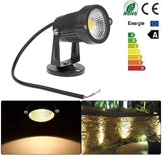 Vvciic 5W Césped Jardín Focos LED de luz de inundación de luz al Aire Libre con Base Blanco cálido 12V