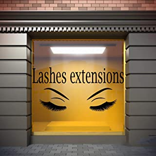 Ksiae Removable Vinyl Wall Stickers Act Mural Decal Art Home Decor Lashes Extensions Eyelashes Eyebrows Make Up Art Sticker Salon