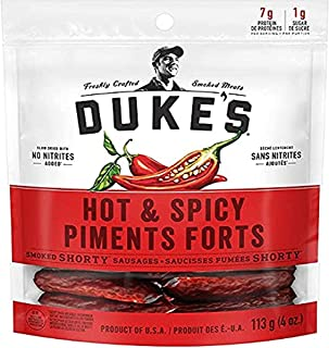 DUKE'S Smoked Shorty Sausages - Hot & Spicy