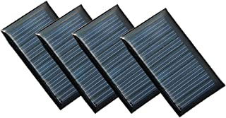 Set of 4 Pieces NUZAMAS 5V 30mA 53X30mm Micro Mini Solar Panel Cells For Solar Power Energy, DIY Home, Science Projects - Toys - 3.6v Battery Charger