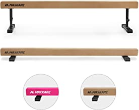 MaxKare Adjustable Balance Beam Gymnastics Training Equipment 8ft Long for Kids & Adults Use (Brown)