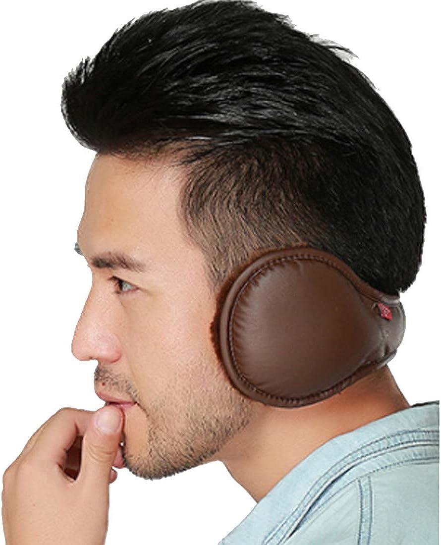 LroHan Mens Foldable Ear Muffs PU Leather Earmuffs Winter Outdoor Ear  Warmers: Amazon.co.uk: Clothing