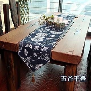 QZQZP Caminos de Mesa Tatami aparador Conjunto Simple Decorativo Pastoral Floral Mantel pequeño Mesa de Centro Banquete de...