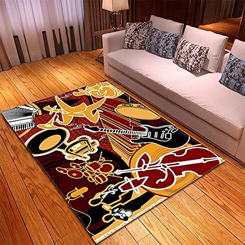 Alfombra Salon -130x190cm Amarillo Negro Marrón, Alfombra Modernas Grandes Pelo Corto, Alfombras Cocina Antideslizante Lavables, alfombras baño, Alfombra Infantiles habitacion, Dormitorio alfombras