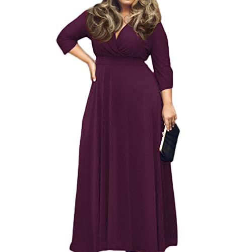 Plus Size Purple Maxi Dress: Amazon.com