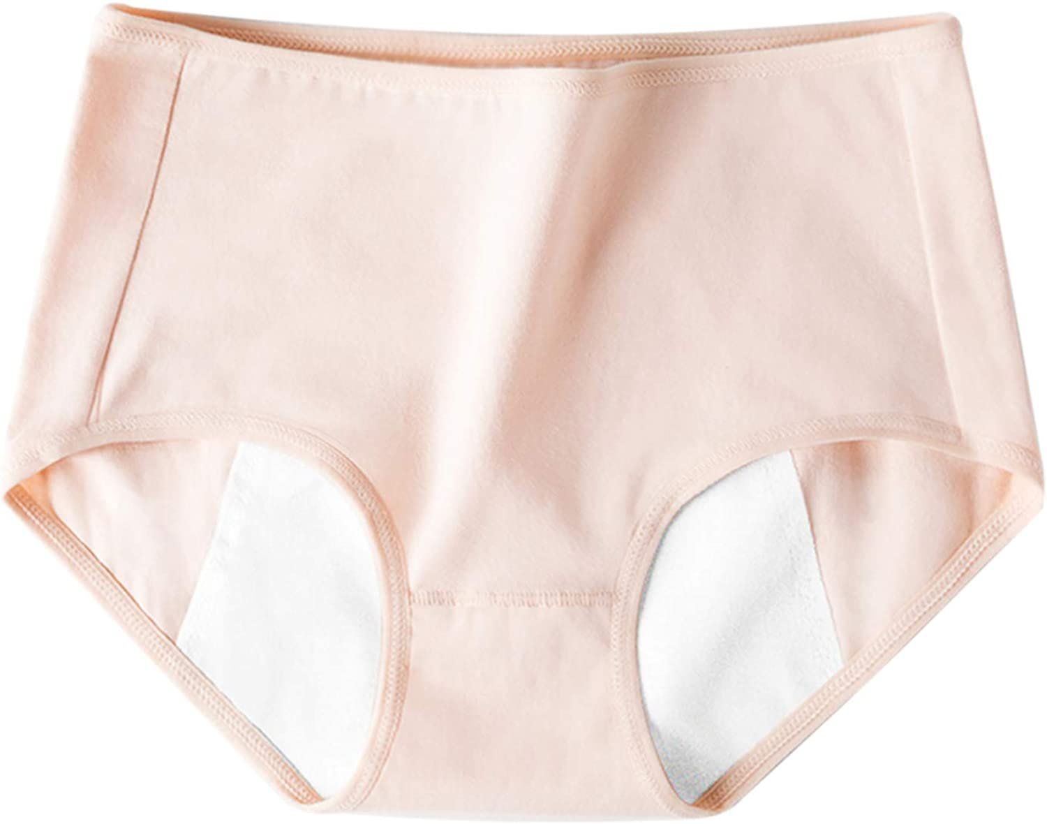 Womens Underwear Cotton Solid Breathable Panties Mid High Waisted Comfy Casual Wear Compression Brief Petite Plus Size