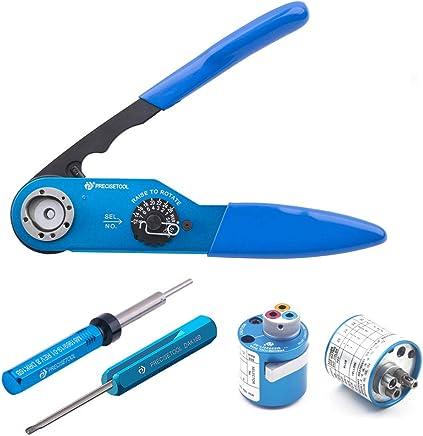 PRECISETOOL KIT1028 Crimp Tool Set (YJQ-W2A Crimp Tool  TH1A Turret Head  DRK16B Removal Tool  DAK16B Installing Tool) B07HG3N8WW | Offizielle