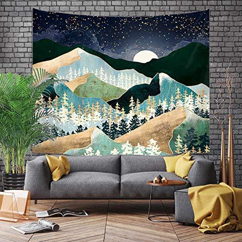 Tapiz de estilo cómic japonés ballena dragón pez dragón y tótem de fénix colgante de pared manta de pared bohemia revestimiento de pared A16 150x200cm