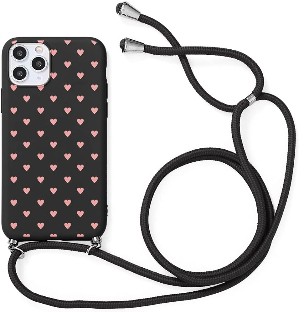 Yoedge Crossbody Case for Huawei P50 (4G), Neck Cord Phone Case with Adjustable Lanyard Strap, Soft TPU Silicone with Cute Pattern Cover Compatible with Huawei P50 4G [6.3