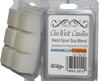 ChicWick Candles 2Pack Marshmallow Pumpkin Soy Wax melts 6oz 12 Wax Cubes Wax Chunks 100 Plus Hours of Quality Fragrance
