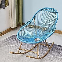 Bueuwe Applique de Fauteuil à Bascule en rotin coloré Appliqueurs de chaises Longues Mobilier de Jardin Chaises…