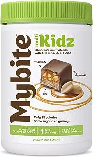 Mybite Kidz Chocolate Multivitamin, 30 Bites, Vitamins A, B6, B12, C, D, E, Zinc, Delicious Supplement with Immune Support...