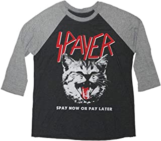 Spayer Cat Shirt - Vintage Rock Slayer Long Sleeve Shirt Parody
