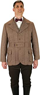 Historical Emporium Men's Norfolk Wool Blend Herringbone Tweed Jacket