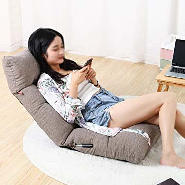 zenggp Floor Chair Gaming Chair Bed Back Bay Window Lounge Chair Sofa Dormitory Computer Chair Foldable Meditation Chair Or f