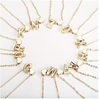 Gold Letter Necklace Initial Name Necklaces Pendant for Women Girl Gift Jewelry