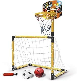 Fotboll nät fotboll sport mål set bärbara barn fotboll mål basketboll kit utomhus- och inomhusleksak för barn fotbollsträn...