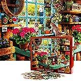 FORMIZON Jigsaw Puzzle, 1000 Piezas Rompecabezas de Juguete, Rompecabezas de Cartón, Juegos de Rompecabezas para la Familia, Rompecabezas para Niños Adolescentes (Gato)