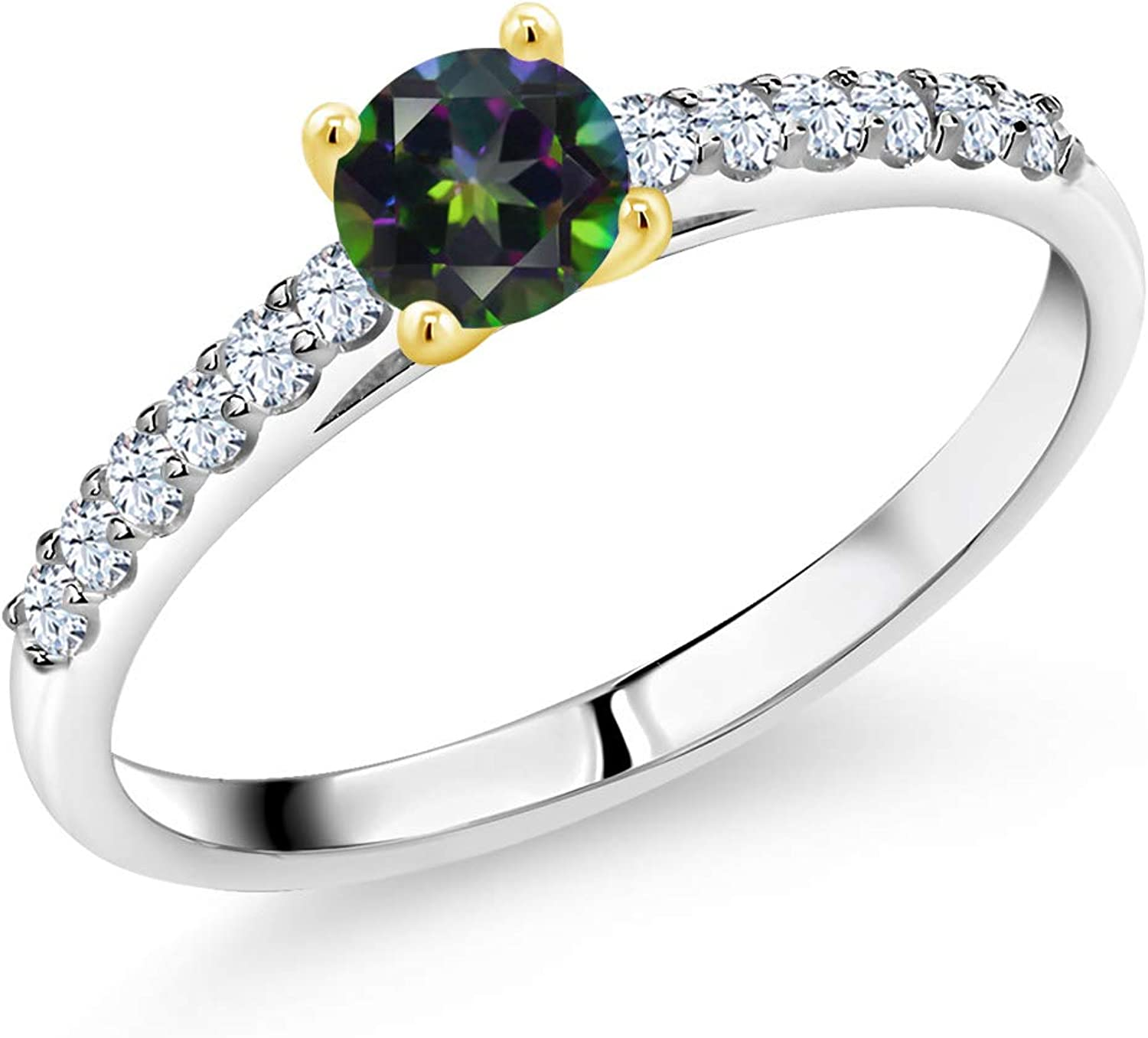 Gem Stone King 925 Sterling Silver 10 Ring with Max 75% OFF trust Engagement Women