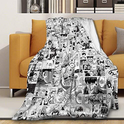 Haikuu!! Manta de forro polar de franela extra grande acogedora microfibra colchas novedad ropa de cama sofá cama suave aire acondicionado edredón M 127 x 152 cm