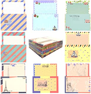 HOSTK 64 Cute Lovely Special Design Writing Stationery Letter Paper and 32 Envelopes Set Assorted Seal Paper Vintage Navy Style