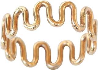 California Toe Rings Women's 14K Gold Filled Wire Swirl Toe Ring