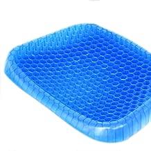 Mixen Gel Flex Cushion Seat Sitter Flex Pillow Back Support Sit On an Honeycomb (Bluue)