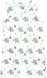 Babysoy Lightweight Organic Cotton Pattern Print Tank Romper/Shortall